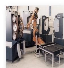 金属部品のグラインダー、バリ取りシステム