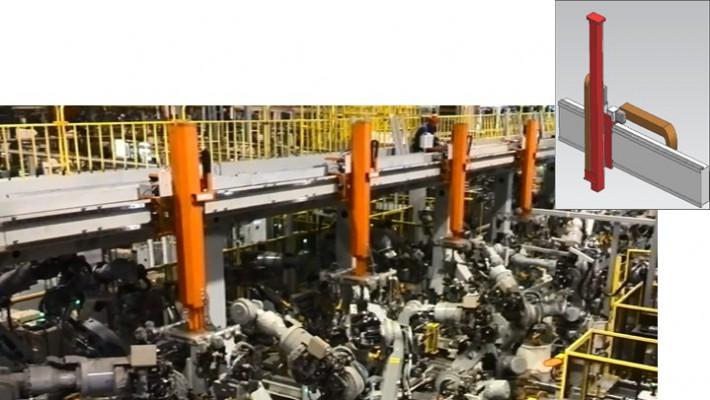 ロボット技術に基づき、開発したサーボ搬送システム